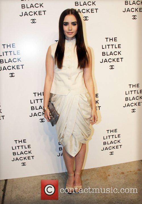 lily collins chanels the little black jacket 3931191