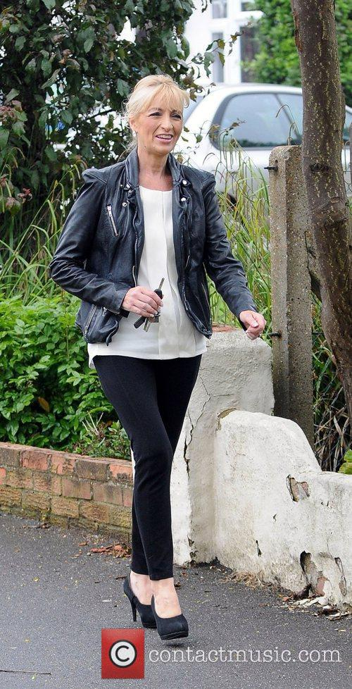Chantelle Houghton's mother arriving at Chantelle Houghton and...