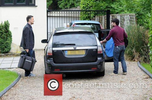Photo shoot equipment  arriving at Chantelle Houghton...