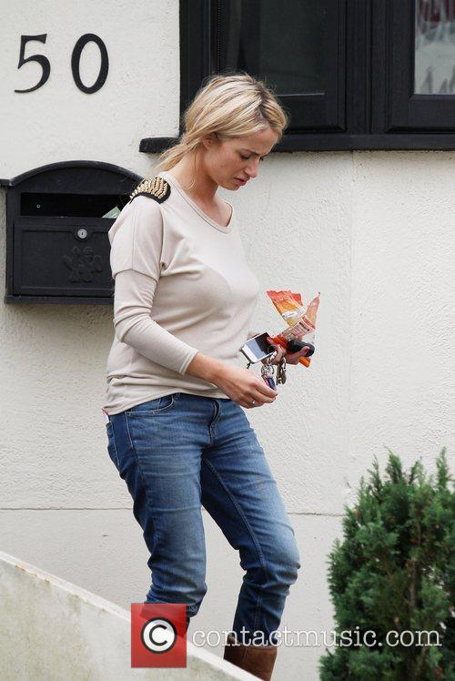 Chantelle Houghton  packs personal belongings and visits...