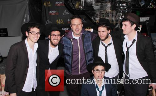 David Arquette, L, A. Live Chanukah, Event and Nokia Plaza L. 5