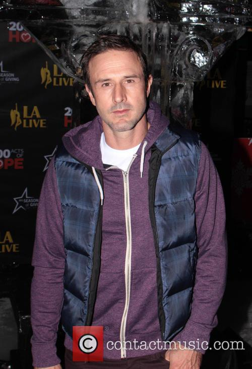 David Arquette, L, A. Live Chanukah, Event and Nokia Plaza L. 7