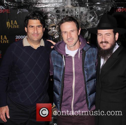 David Arquette, L, A. LIVE Chanukah, Event and Nokia Plaza L. 12