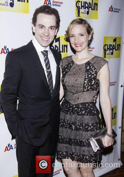 Rob McClure and Maggie Lakis attending the Broadway...