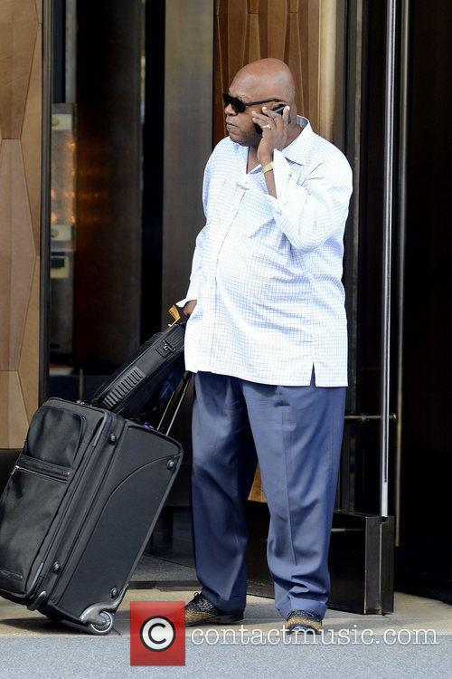 Charles S. Dutton actor outside his Manhattan hotel...