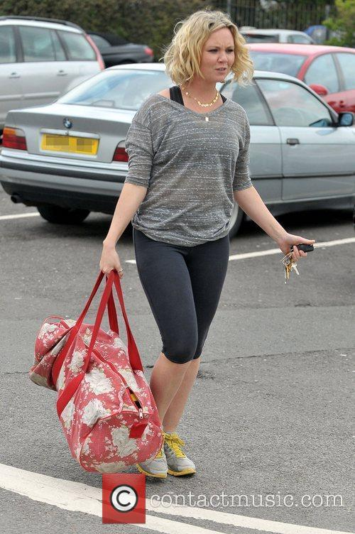Charlie Brooks arriving at the gym during her...