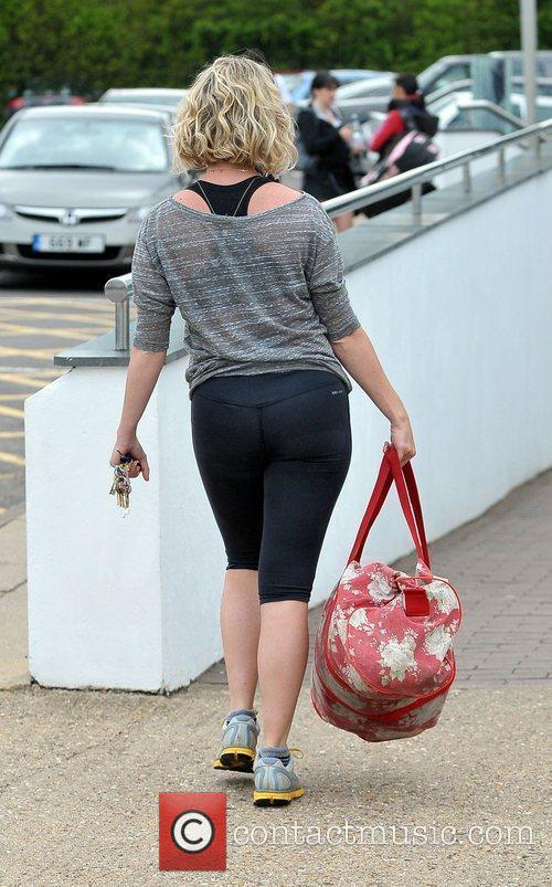 Arriving at the gym during her lunchbreak