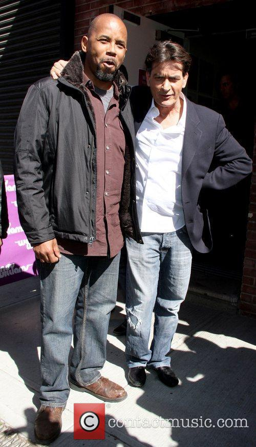 Michael Boatman and Charlie Sheen 3