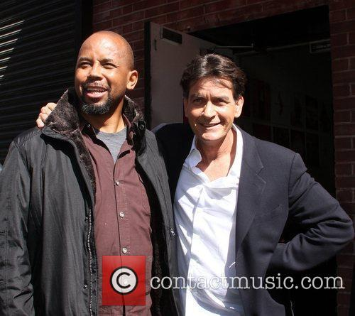 Michael Boatman and Charlie Sheen 7
