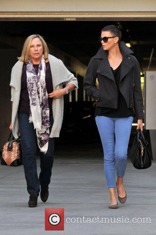 Actress Charlize Theron and her mother Gerda Theron...
