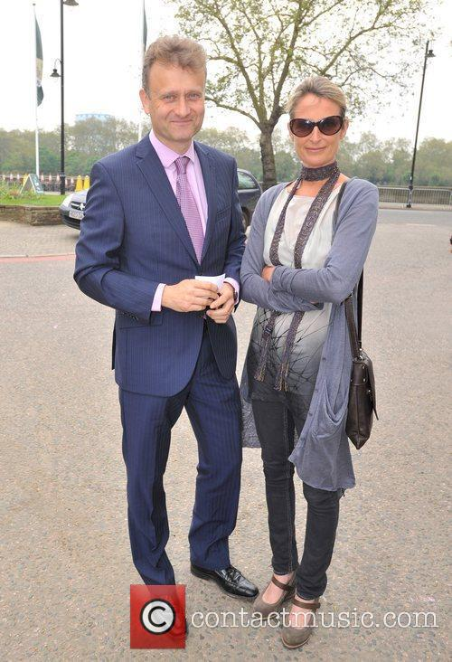 Hugh Dennis and wife Catherine Abbot-Anderson Chelsea Flower...