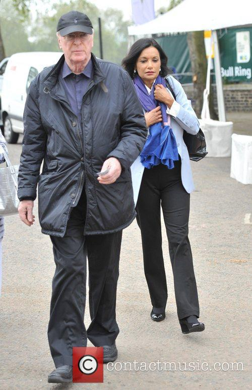 Sir Michael Caine and wife Shakira Caine Chelsea...