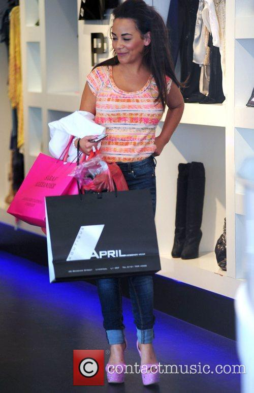 Chelsee Healey shopping at April Boutique Liverpool, England