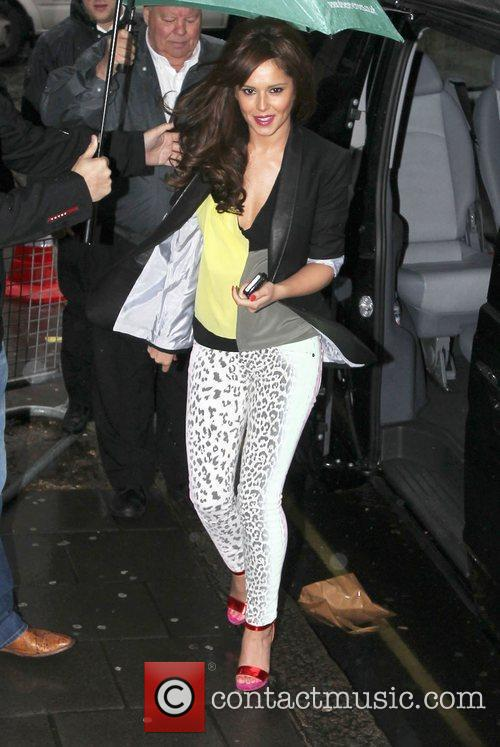 cheryl cole arrives at the bbc radio 3845562