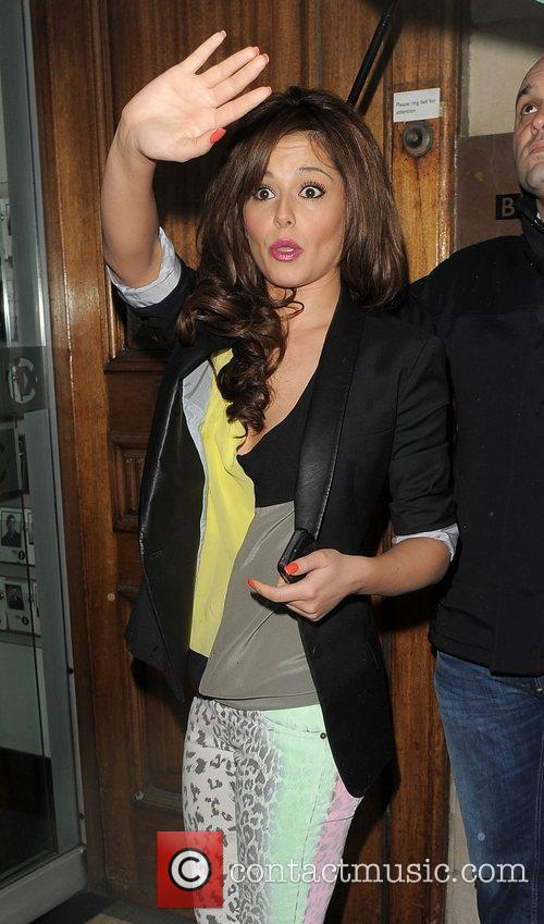 cheryl cole arrives at the bbc radio 3845643