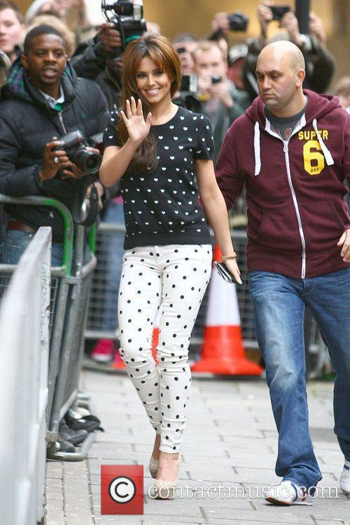cheryl cole arriving at the bbc radio 3940142