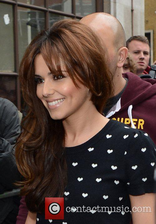 cheryl cole arriving at the bbc radio 3940179