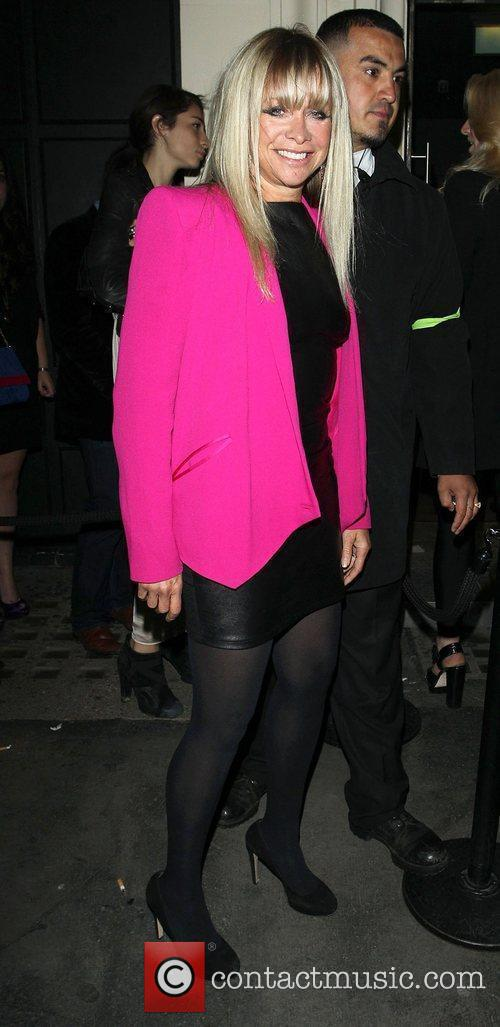 Jo Wood at Tyrone Wood's birthday party at...