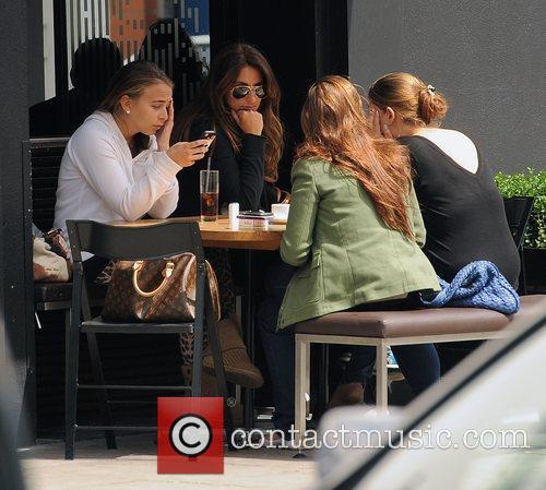 Chloe Green enjoys an afternoon drinking and smoking...