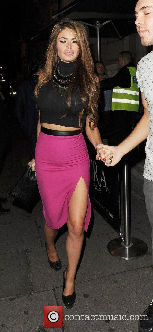 Chloe Sims leaving Aura nightclub in London