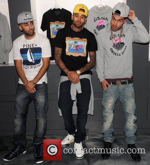 Neima Khaila, Chris Brown and Cena Barhaghi 5