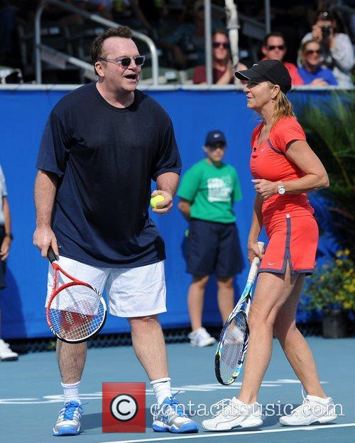 Tom Arnold and Chris Evert 3