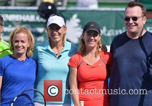 Elisabeth Shue, Martina Navratilova, Chris Evert, Tom Arnold, Raymond James Pro- Celebrity, Tennis Classic, Delray Tennis Center and Delray Beach 6