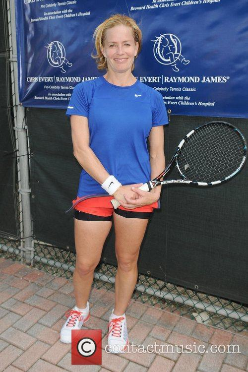 Elisabeth Shue, Chris Evert, Raymond James Pro- Celebrity, Tennis Classic, Delray Tennis Center and Delray Beach