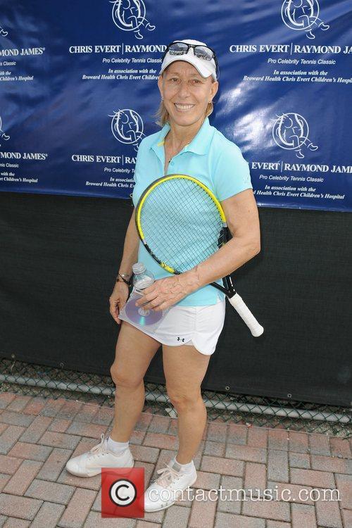 Martina Navratilova  participates in the Chris Evert...