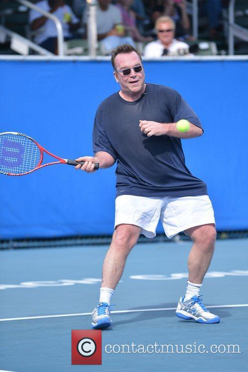 Tom Arnold, Chris Evert, Raymond James Pro- Celebrity, Tennis Classic, Delray Tennis Center and Delray Beach 11