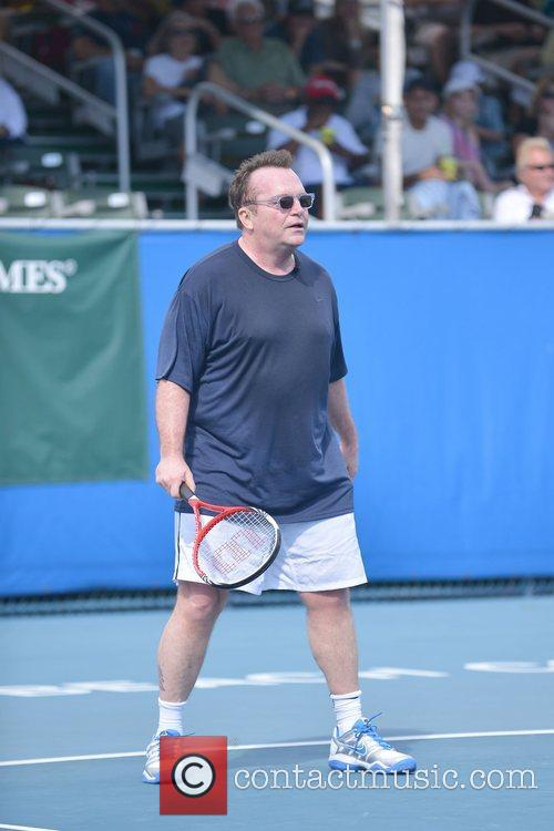 Tom Arnold, Chris Evert, Raymond James Pro- Celebrity, Tennis Classic, Delray Tennis Center and Delray Beach 9