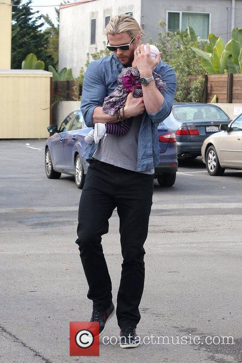 Chris Hemsworth and India Rose Hemsworth 7