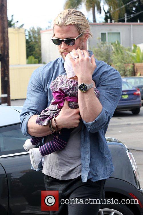 Chris Hemsworth and India Rose Hemsworth 4