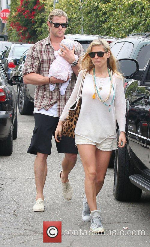 Elsa Pataky, husband Chris Hemsworth and daughter India...