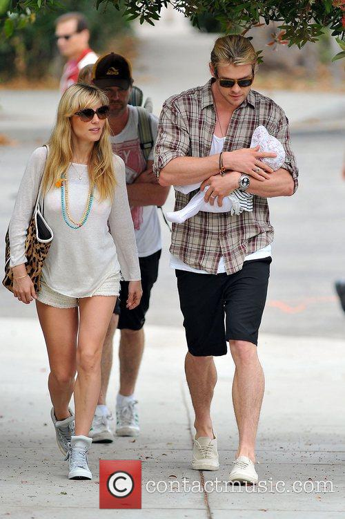 Elsa Pataky, Chris Hemsworth and The Tiny 3