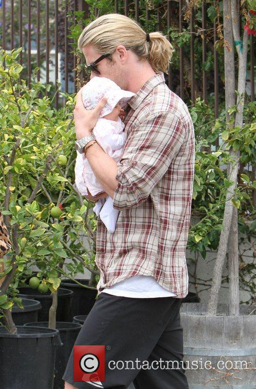 Chris Hemsworth and daughter India Rose head out...