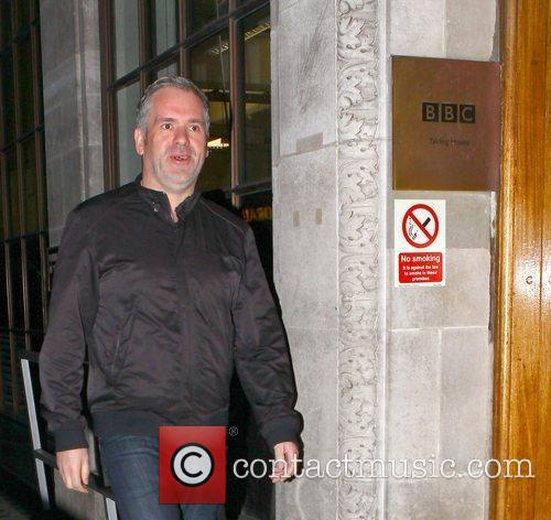 Radio 1 breakfast show host Chris Moyles arrives...