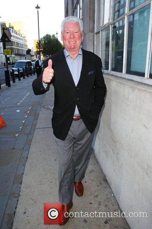 Roy Walker outside the BBC Broadcasting House &...