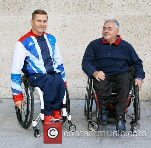 David Weir  outside the BBC Broadcasting House...