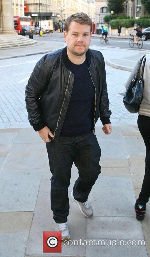 James Corden outside the BBC Broadcasting House &...