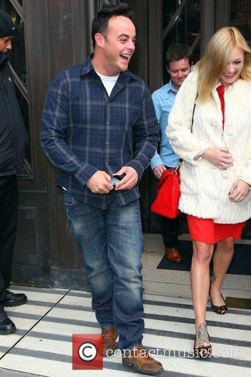 Anthony McPartlin and Fearne Cotton outside the BBC...