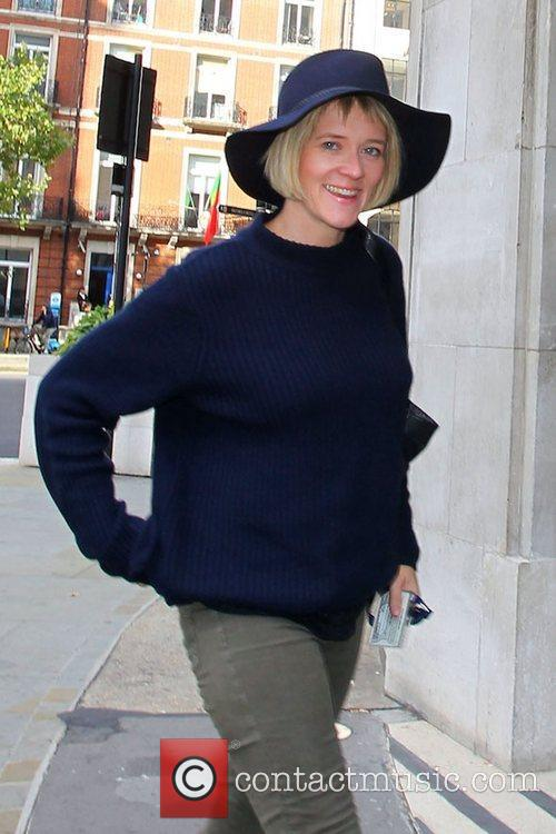 Edith Bowman outside the BBC Broadcasting House &...