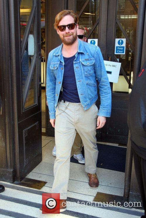Ricky Wilson  outside the BBC Broadcasting House...