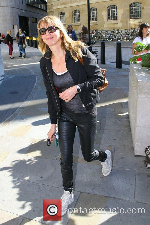 Sara Cox outside the BBC Broadcasting House &...