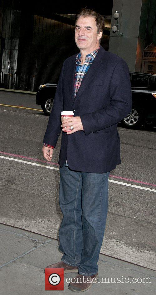 Chris Noth is seen walking with a...
