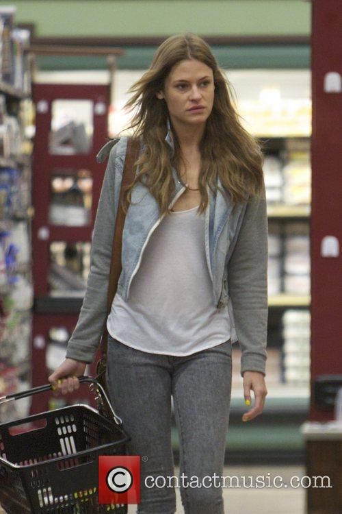 Model Dominique Piek goes late night shopping for...