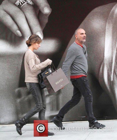 Christian Audigier and his girlfriend Nathalie Sorensen shop...