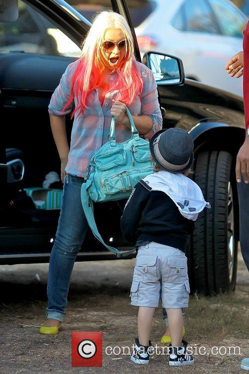 Christina Aguilera and Max Bratman 6