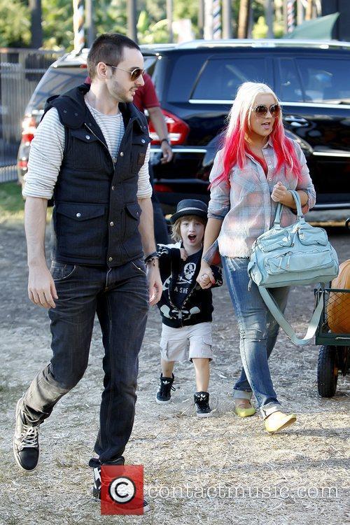 Matthew Rutler, Max Bratman and Christina Aguilera Christina...