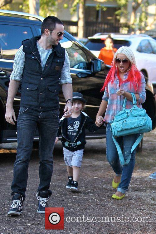 Christina Aguilera enjoys a day at Mr. Bones...
